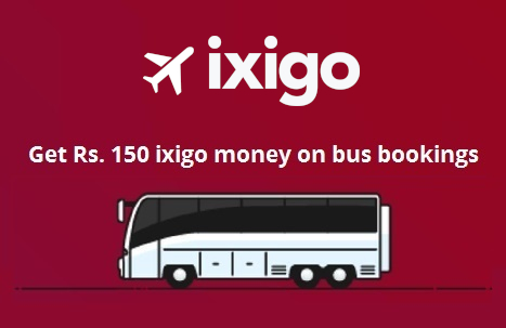 ixigo - Bus Deal Flat Rs 150 Cashback on Bus Bookings at